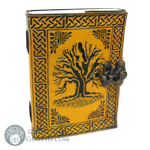Yellow Tree of Life Journal with Latch - Grove and Grotto