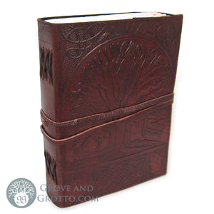 Sacred Oak Leather Journal - Grove and Grotto