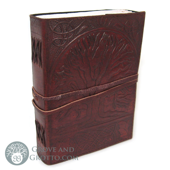 Sacred Oak Leather Journal with Cord - Grove and Grotto