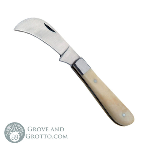 "Mini Folding Boline with White Bone Handle 2.5"" - Grove and Grotto"