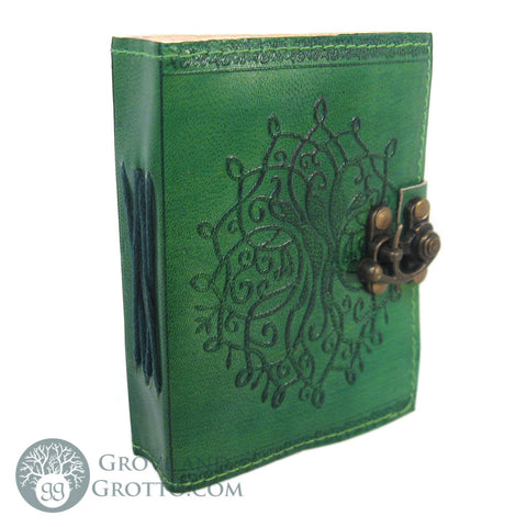 Green Tree of Life Mini Leather Journal