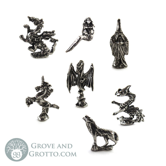 Bag of Miniature Pewter Figurines (1/4 lb)