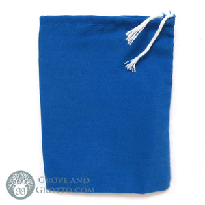 Cotton Mojo Bag (Blue) - Grove and Grotto