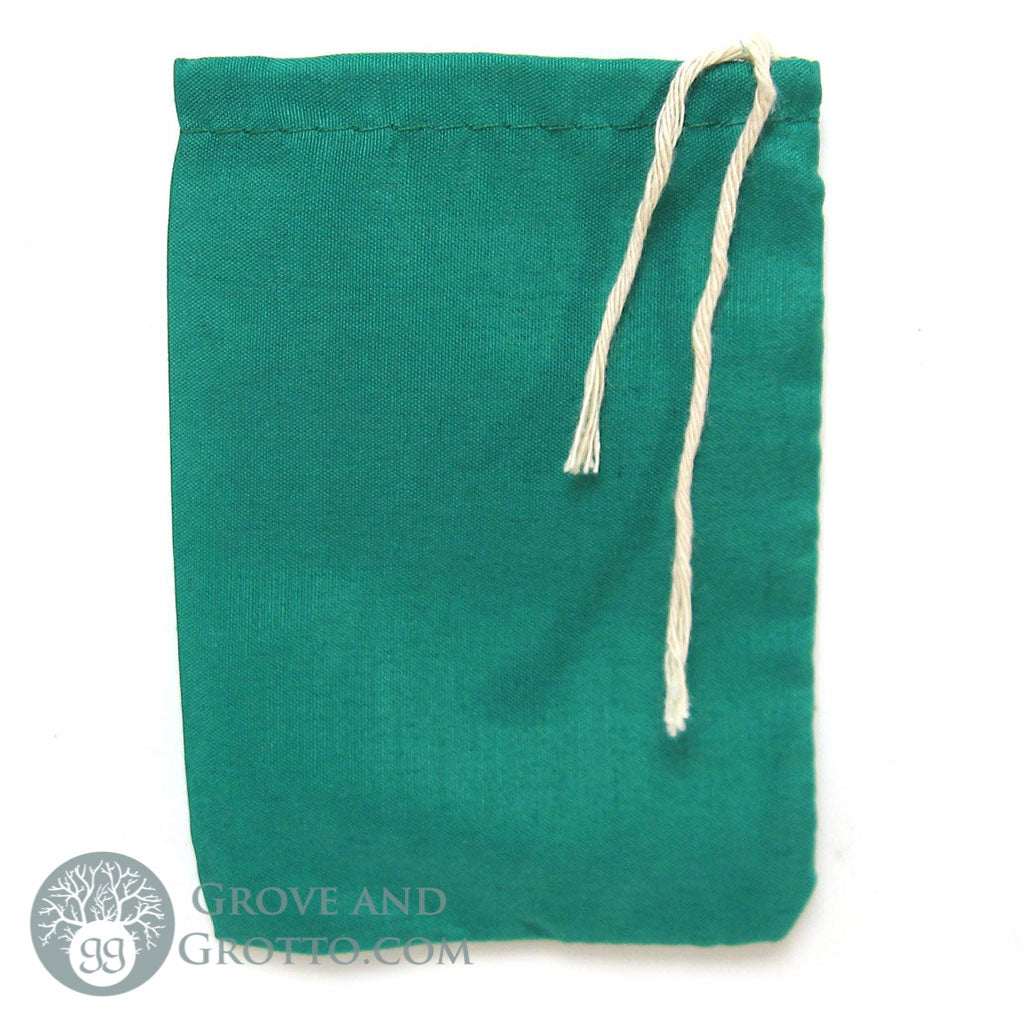 Cotton Mojo Bag (Green) - Grove and Grotto