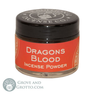 Natural Powder Incense in Jar - Dragon's Blood - Grove and Grotto