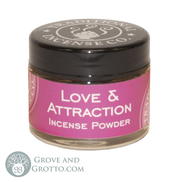Natural Powder Incense in Jar - Love and Attraction - Grove and Grotto