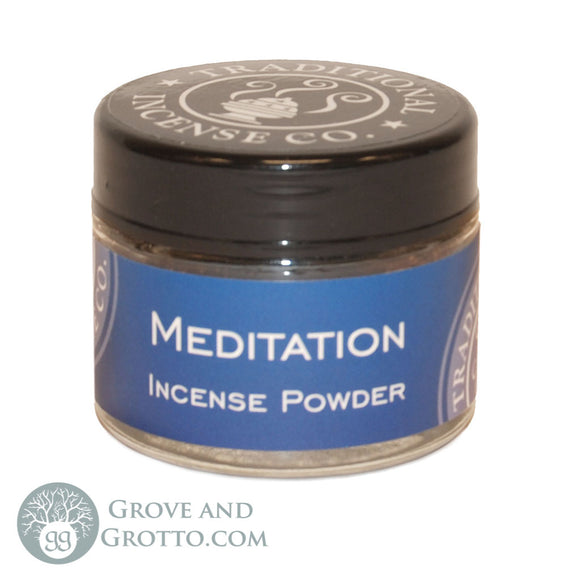 Natural Powder Incense in Jar - Meditation - Grove and Grotto