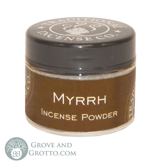 Natural Powder Incense in Jar - Myrrh - Grove and Grotto