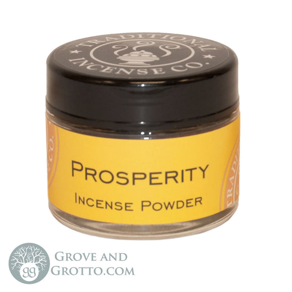 Natural Powder Incense in Jar - Prosperity - Grove and Grotto
