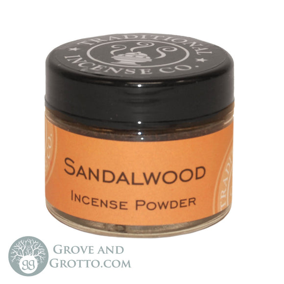 Natural Powder Incense in Jar - Sandalwood - Grove and Grotto
