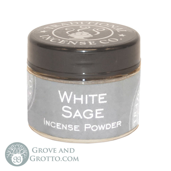 Natural Powder Incense in Jar - White Sage - Grove and Grotto