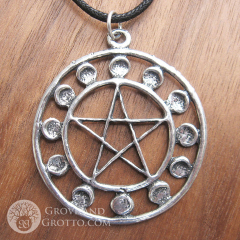 12 Moons Pentacle Amulet - Grove and Grotto