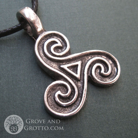 Antiqued Triskele Pendant - Grove and Grotto