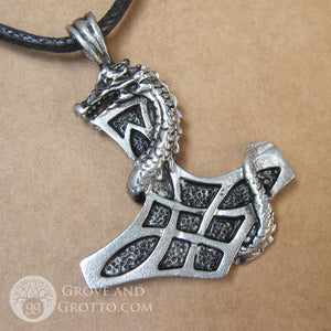 Dragon Thor Hammer Pendant - Grove and Grotto