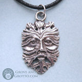 Green Man Mask Pendant