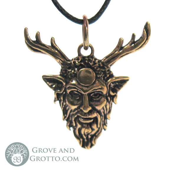 Horned God Pendant (Bronze) - Grove and Grotto