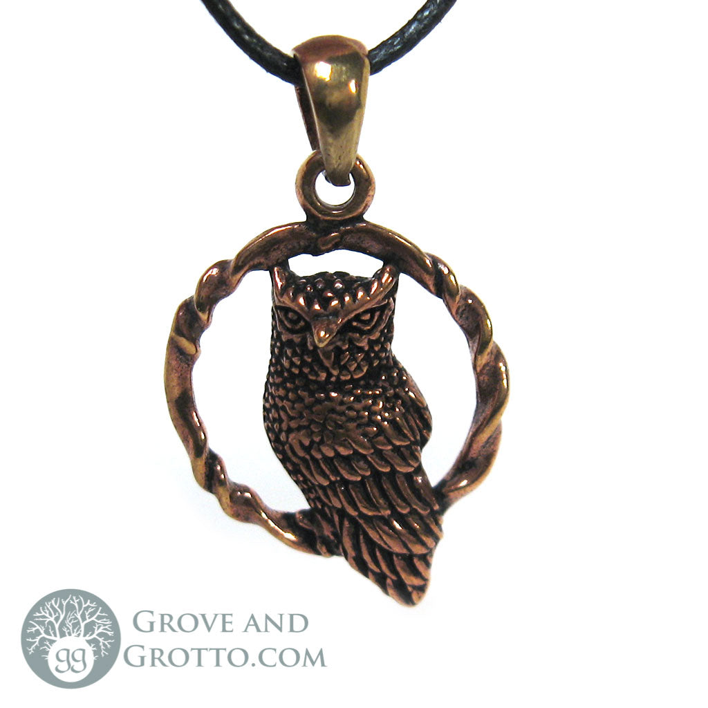 Bronze Owl Pendant - Grove and Grotto