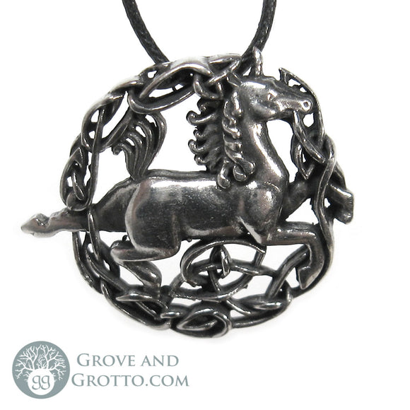 Celtic Unicorn Pendant - Grove and Grotto