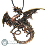 Large Celtic Dragon Pendant (Bronze) - Grove and Grotto