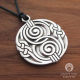 Spiral Chalice Well Pendant