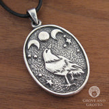 Triple Moon Raven Pendant - Grove and Grotto