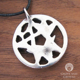 Stag Pentagram Amulet (Pewter) - Grove and Grotto