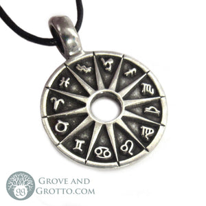 Zodiac Circle Pendant - Grove and Grotto