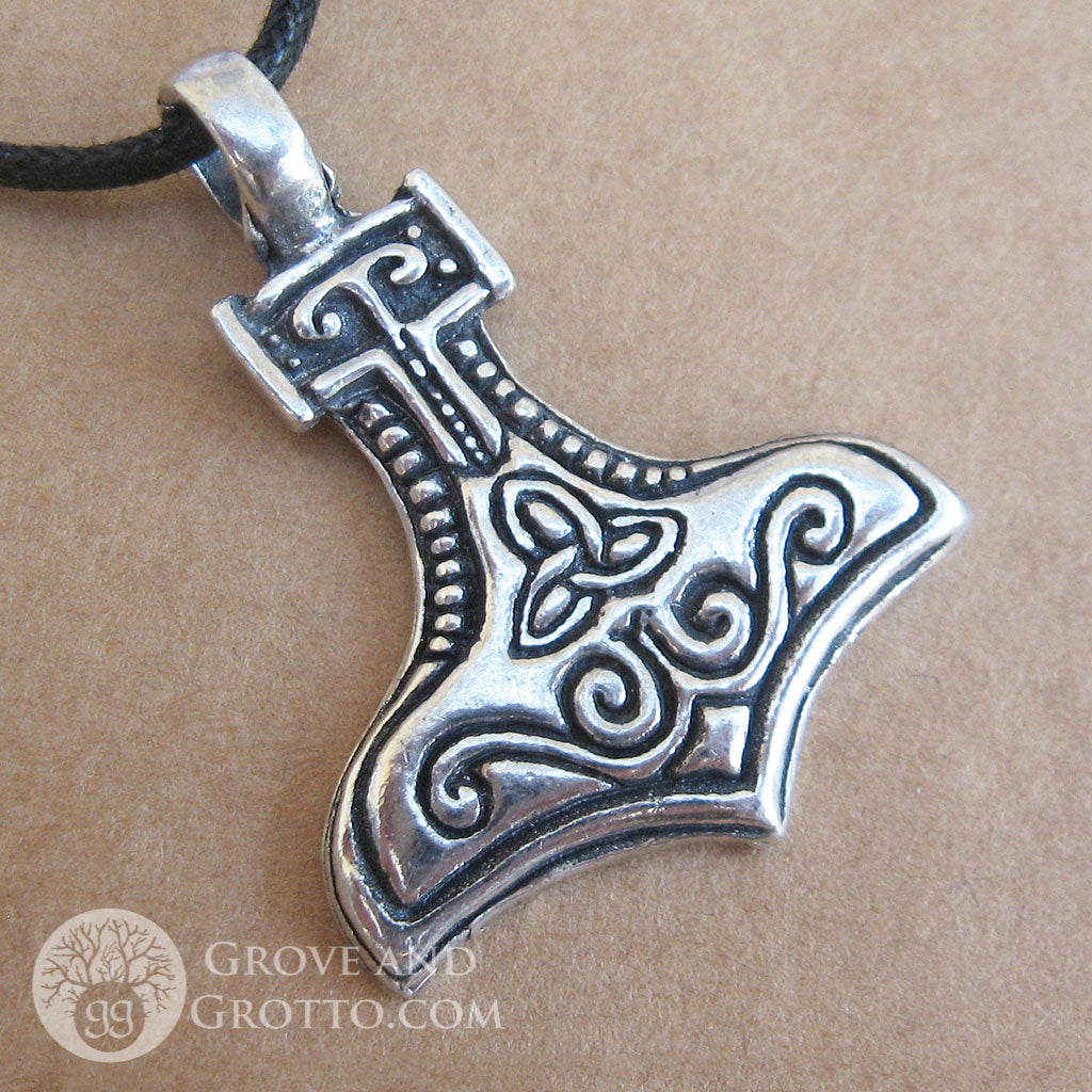 hammer product amulet pendant norse goat node necklace thor animals image products viking neckla