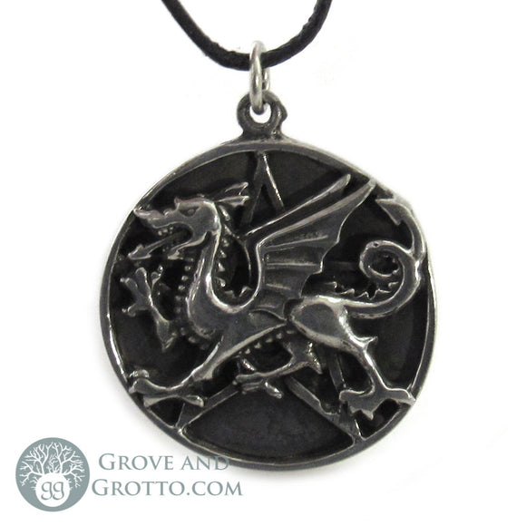 Pentacle of the Dragon Pendant - Grove and Grotto