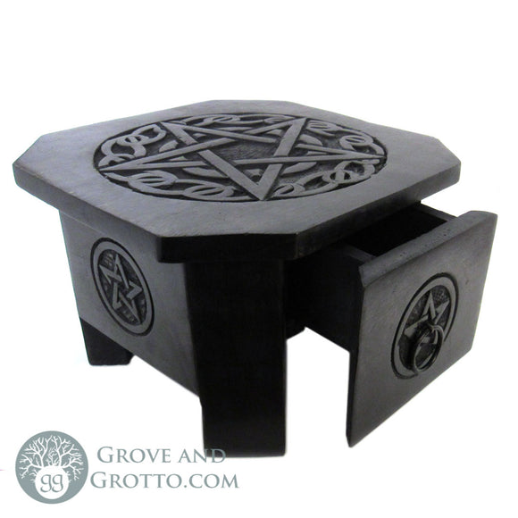 Pentagram Altar Table with Drawer