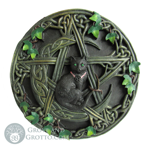 Cat and Pentagram Plaque