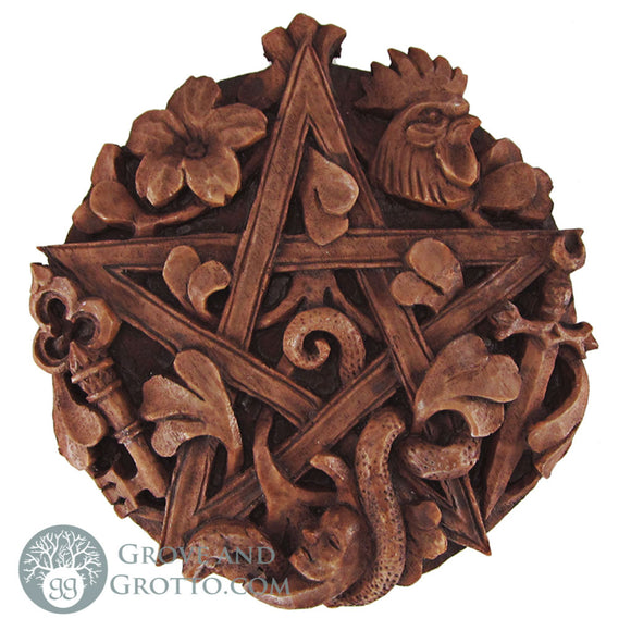 Dryad Design Cimaruta Pentacle Plaque - Grove and Grotto