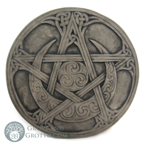 Dryad Design Moon Pentacle Plaque - Grove and Grotto