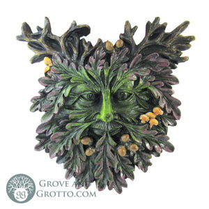 Oak Leaf Green Man Plaque - Grove and Grotto