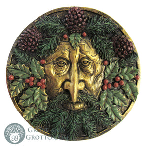 Green Man Seasonal Plaque (Winter) - Grove and Grotto