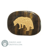Bear Pocket Stone with Pouch - Grove and Grotto