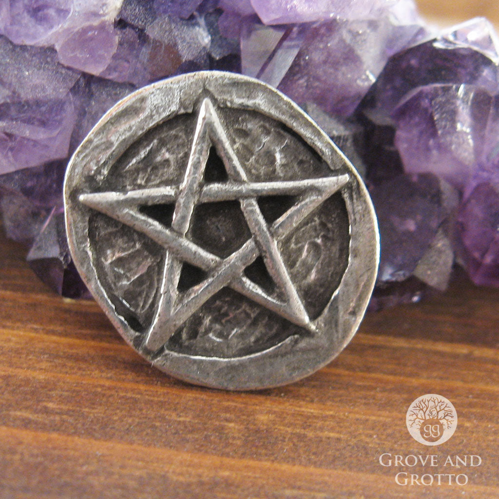 Pentagram Pocket Stone - Grove and Grotto