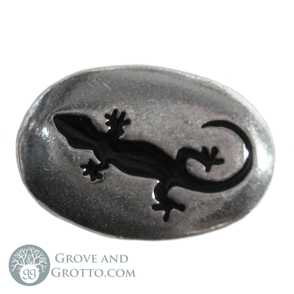 Lizard Pewter Pocket Stone