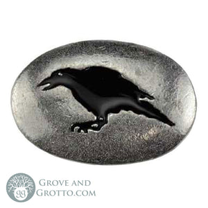 Raven Pewter Pocket Stone
