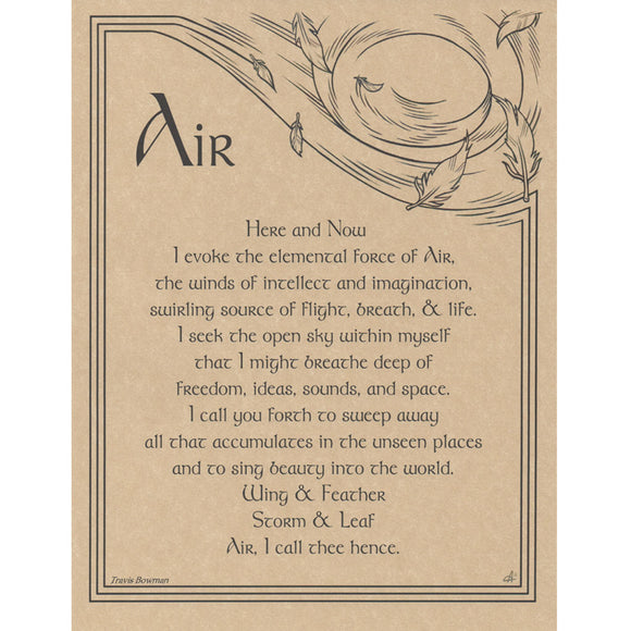 Air Evocation Parchment Poster (8.5
