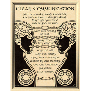 "Clear Communication Parchment Poster (8.5"" x 11"") - Grove and Grotto"