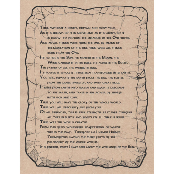 Emerald Tablet Parchment Poster (8.5