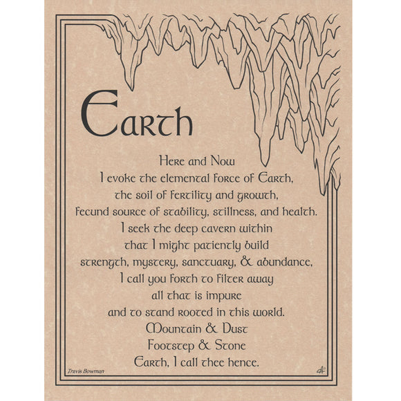 Earth Evocation Parchment Poster (8.5