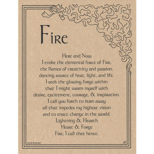 "Fire Evocation Parchment Poster (8.5"" x 11"") - Grove and Grotto"