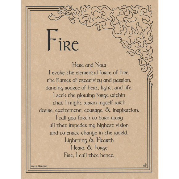 Fire Evocation Parchment Poster (8.5