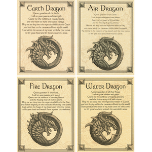 "Set of Four Dragon Parchment Posters (8.5"" x 11"")"