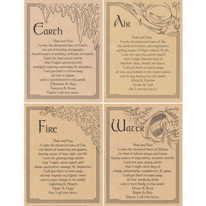 "Set of Four Elements Parchment Posters (8.5"" x 11"")"