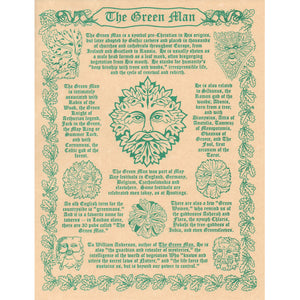 "Green Man Parchment Poster (8.5"" x 11"") - Grove and Grotto"