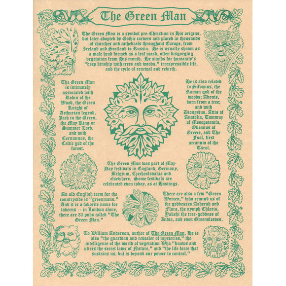 Green Man Parchment Poster (8.5
