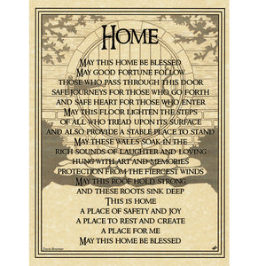 "Home Blessing Parchment Poster (8.5"" x 11"")"